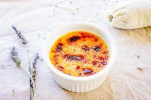 Recette de Crème brûlée à la lavande
